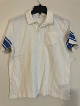 Gap Kids Boys Off White Blue Short Sleeve Polo Shirt XL 12 Husky - $9.50