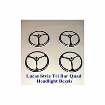 """5 3/4"""" Lucas Style Quad Bullet Headlight Covers - $29.51"""