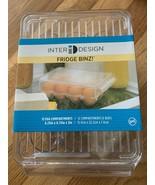 InterDesign Fridge Binz 12 Egg Holder BPA-Free Plastic Clear Small Box D... - $24.74