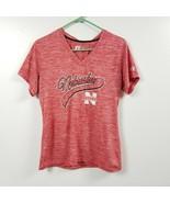 Russell Nebraska Cornhuskers Womens V Neck T Shirt Large L Red Heather S... - $11.26
