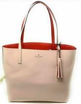 NWT Kate Spade Lakeland Marina Reversible Pink / Red Leather Tote WKRU5342 $299 - $124.99