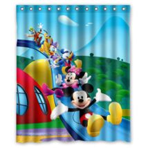 Mickey Mouse And Minnie Mouse #03 Shower Curtain Waterproof Made From Polyester image 1