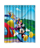 Mickey Mouse And Minnie Mouse #03 Shower Curtain Waterproof Made From Polyester - $42.30 - $44.30