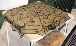 POTTERY BARN SPIDER OVERLAY –NWT– YOU'LL HAVE HALLOWEEN GET-TOGETHERS CO... - $54.95
