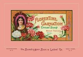 Florentine Carnation Toilet Soap by Buedingen Box & Label Co. - Art Print - $19.99+