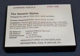 TURNTABLE STYLUS NEEDLE FOR SHURE HI TRACK N91 N92 N93 M91E M92E M93E 4761-DE image 2