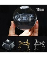 Crystal Balls 10cm Solar System Miniature Laser 3D Tabletop Ornament Hom... - $52.46+