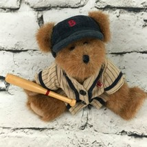 Boyds Retro Baseball Teddy Bear Plush Brown Classic Jointed Soft Toy - $7.91