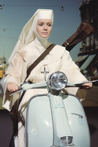 Debbie Reynolds in The Singing Nun Riding On Vespa Scooter 18x24 Poster - $23.99