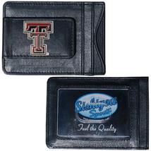 texas tech raiders logo ncaa college emblem leather cash & cardholder usa made - $27.07