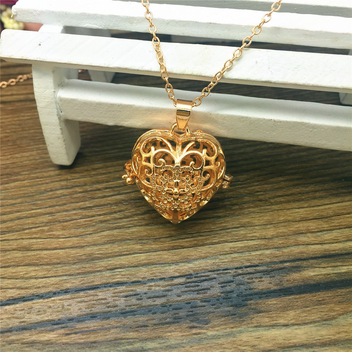 Primary image for GP HEART DIFFUSER AROMA LOCKET NECKLACE  >> COMBINED SHIPPING <<   (