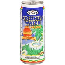 Grace Agua de Coco con Pulpa / Coconut Water with Pulp 17.5oz 4 Pack - $16.64