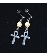 Ankh earrings, Key of life earrings, Egyptian cross earrings, Boho (E982) - $13.99