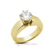 2.14ct I-I1 VG Round AGI Genuine Diamond 14k Gold Classic Solitaire Ring... - $5,529.55