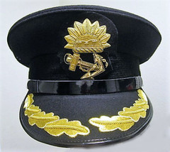 P & O Marine Ship Line Captain Black Hat Cap New Most Sizes Excellent Cp Made - $95.00