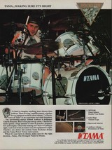 1991 Vintage Magazine Ad Page Tama Drums Anthrax Charlie Benante - $4.47