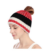 Ponytail Beanie Hat Autumn Winter Horsetail Hat Outdoor Warm Tail Soft S... - $11.56