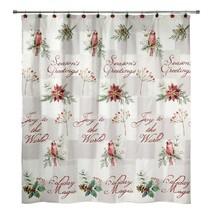 Avanti Linens Cardinal Shower Curtain Christmas - $29.69