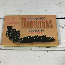 Vintage Cardinal's Hardwood Dominoes Double Six - 28 Pieces - No 556 Preowned - $19.79