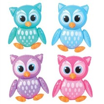 "4 Adorable 24"" Owl Inflates - Birthday Party Colorful DECORATIONS/Decor/... - $19.19"
