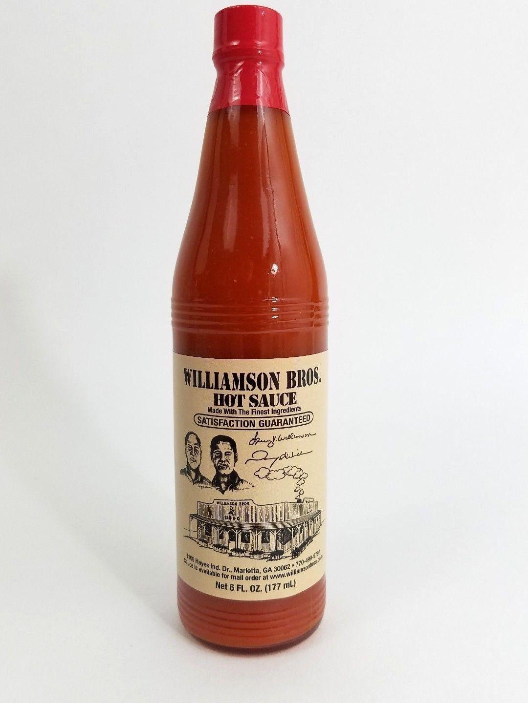 WILLIAMSON BROS. Hot Cayenne Pepper Sauce 6 oz. Bottle (NOT BBQ/Bar-B-Q sauce!)