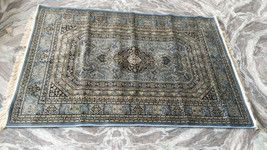 Hand knotted Cotton on Silk rug for Living room/ Dinning room, Vintage R... - $459.99+