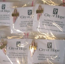 Lot of 28 CITY OF HOPE Breast Cancer pink ribbon pinback lapel pins - $29.99