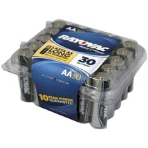 RAYOVAC 815-30PPTJ Alkaline Batteries Reclosable Pro Pack (AA; 30 pk) - $32.54