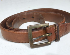 "Chaps Ralph Lauren Brown Italian Leather Mens Belt 1"" - $12.65"