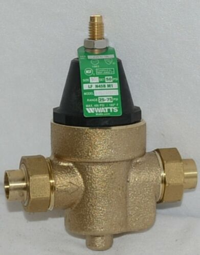 Watts Water Pressure Reducing Valve 1/2 Inch Connection 0009474