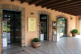 Ohrringe Anhänger Weißgold 18K, Kette Venetian, Perle Pink, Fischen, 8 MM image 5