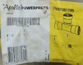 Apollo Powerpress Steel Gas Carbon Steel Two Inch Tee PWR7481705 image 3