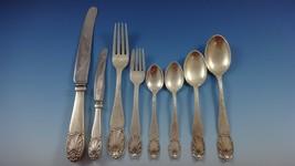Danish by Christian Heise Silver Dinner Flatware Set Service 106 Pieces Handmade