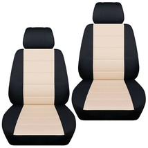 Front set car seat covers fits Chevy Spark  2013-2020   black and sand - $67.89+