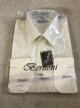 Berlioni Men's Convertible Cuff Solid Dress Shirt L 16-16.5 Sleeve 34/35... - $18.97