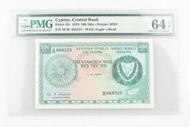 1979 Cyprus 500Mils Billetes Graduado por PMG Elección UNC-64 Sn P# 42c - $98.91
