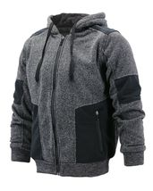 Boy's Soft Sherpa Lined Two Tone Quilted Juniors ZipUp Fleece Hoodie Kids Jacket image 3