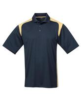 Tri-Mountain Blitz 145 Knit Polo Shirt - Navy /  Vegas Gold - $24.85+