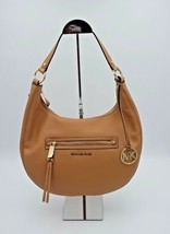 NWT MICHAEL Michael Kors Rhea Tan Leather Medium Zip Shoulder Bag Purse ... - $168.00