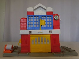 Little People Builders Fire Station Blocks Toys Lot Set Sounds Fisher Pr... - $25.76