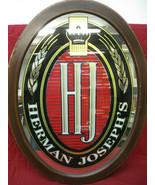 Vintage Herman Joseph's Beer Bar Mirror Sign with Wood Frame - $49.49
