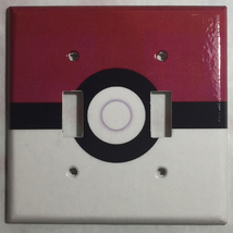 Pokemon Red Pokeball ball Light Switch Power Outlet Wall Cover Plate Home decor image 4