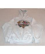 19TH Annual Redwood Run '96 Piercy, Ca. SZ M Grey Hoodie Sweat Shirt Mad... - $18.80