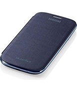 Samsung Notebook Style Flip Cover Case for Samsung Galaxy S3 - Chrome/Blue  - $40.00