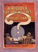NEW MAGNET LIBRARY-#1313-RIDDLE IDENTITIES-NICK CARTER FR - $31.53