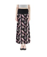 Women's Ethnic Feathers Printed Elastic Boho Full Length Maxi Skirt Size... - $28.99+