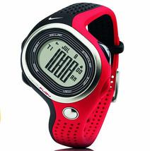 Nike Triax Fury 100 Running Chronograph Alarm Rare New Red/Black WR0140-... - $187.11
