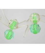 Chartreuse Plastic Pot-it Bead clip Earrings 1950s vintage - $9.95