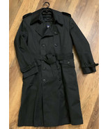 OUI Black Belted Trench Coat Button Closure Removable Liner Size 38 EUC - $86.00