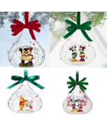 Disney Store Yearly Glass Sketchbook Mickey and Minnie Mouse Ornament 20... - $49.95